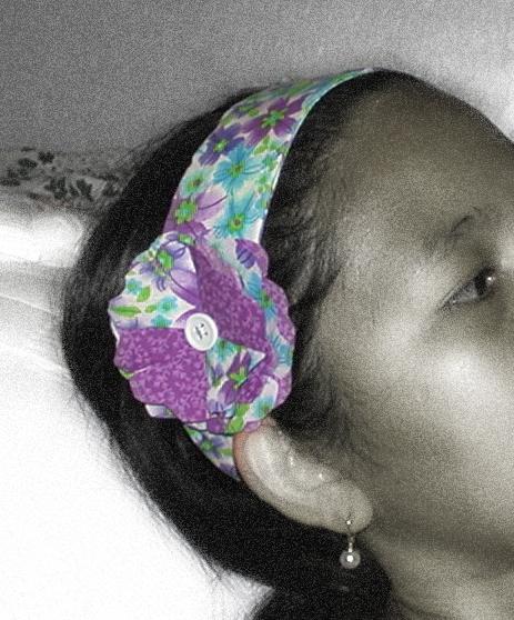 100% Cotton Purple Floral Women's Headband $12.50